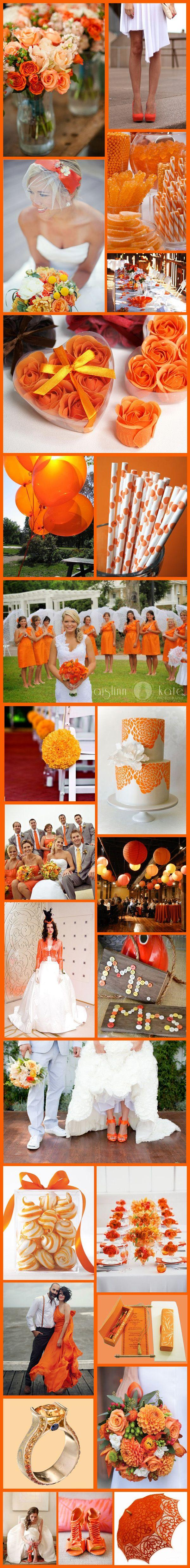 Wedding - Wednesday Wedding Inspiration: Citric Orange