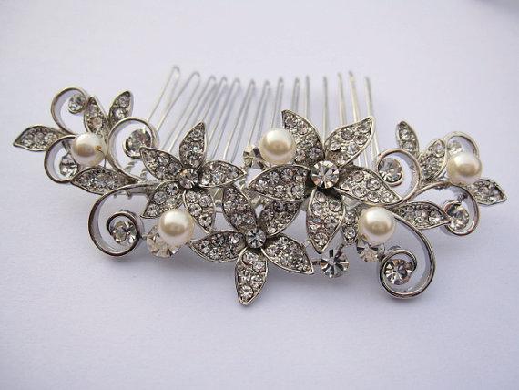 Wedding - wedding hairpiece-bridal hair comb-wedding headpiece-bridal comb-wedding accessories-bridal headpiece-wedding hair comb-bridal jewelry comb