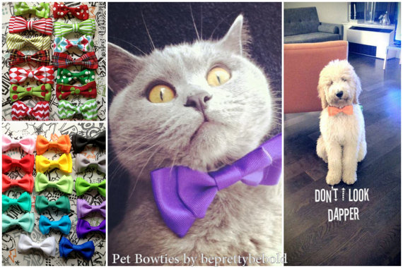 Свадьба - Lime Green Pet Bowtie, Dog Bowtie, Cats Accessory, Collar Bow tie, Necktie, Pet Accessories, Puppy Bowtie, Slides on Collar adjustable.