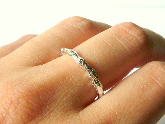 Mariage - Silver branch ring sterling silver twig ring band ring sterling silver ring silver wedding band botanical nature inspired engagement ring