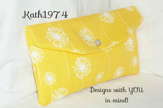 Mariage - Yellow Clutch - Bridesmaid Clutch - SALE - Envelope Clutch - Wedding Party Gift - Premier Prints- Dandelion Yellow -Bridesmaid Gift-Birthday