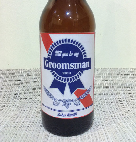 Hochzeit - Personalized Beer Label. Create a custom label for any occasion- weddings, birthdays, parties. Ask groomsmen. PRIORITY SHIPPING