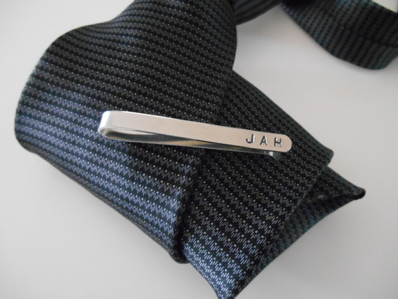 Mariage - Personalized Men's Tie Bar, Monogram Men's Personalized Tie Clasp, Men's Personalized Tie Clip, Groomsmen Gift, Custom Tie Clip
