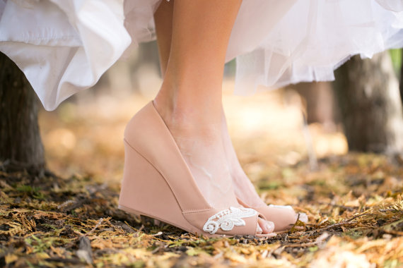 Seems impossible. nude bridesmaid shoes