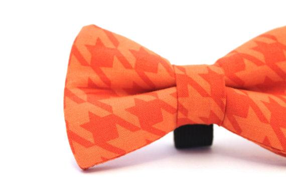 زفاف - Dog Bow Tie, Houndstooth Dog Bow Tie, Houndstooth Doggie Bow Tie