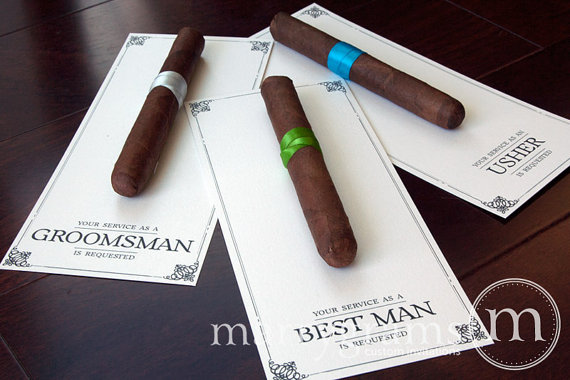 Groomsman Card Cigar Will You Be My Your Service Is Requested As Best Man Ring Bearer Usher Way To Ask Groomsmen Single