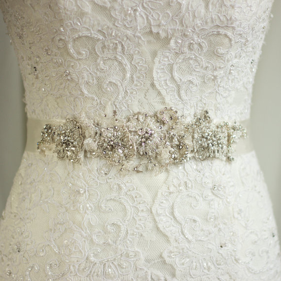 Wedding Sash Lace Belt Rhinestone Sash Wedding Dress Belt Sash ...