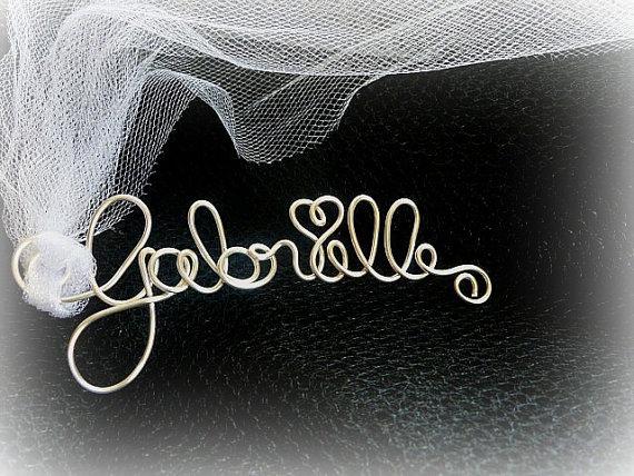 زفاف - Bridal Bouquet Charm, Personalized Bride Bouquet Detail