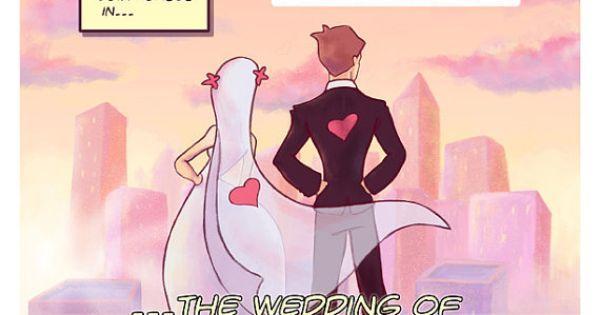 Hochzeit - Comic Book Style Save The Date- Nerdy/Geeky Wedding Invite- Superhero Wedding Theme DIY Printable Invitation