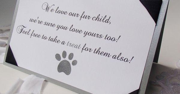 Furry Pet Tent Sign Wedding Signs