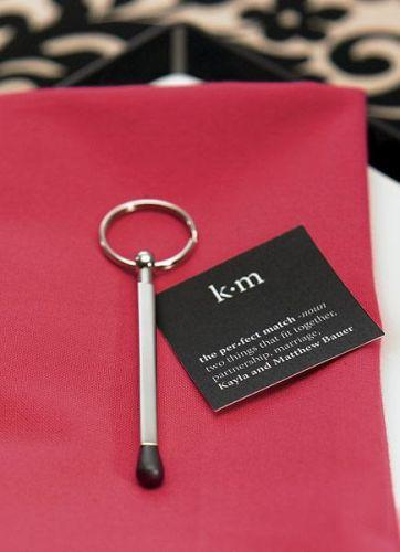 """Hochzeit - """"The Perfect Match"""" Key Ring Pens (Set Of 6)"""