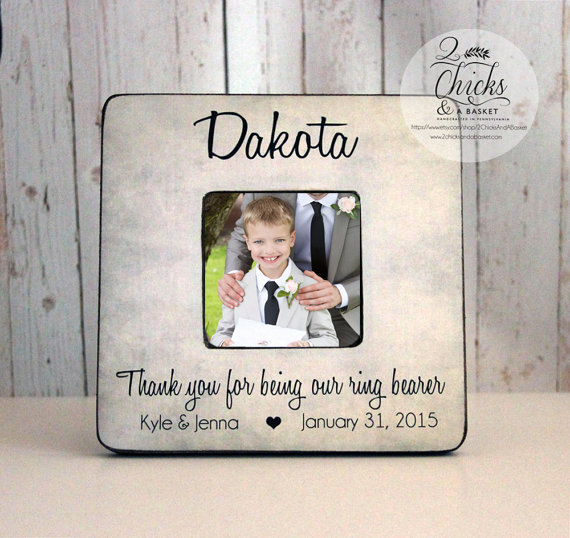 Mariage - Thank You For Being Our Ring Bearer Personalized Picture Frame,  Ring Bearer Gift