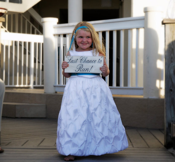 wedding sign rustic country style last chance to run ring bearer flowergirl photo prop ceremony bridal party - Wedding Ring Bearer