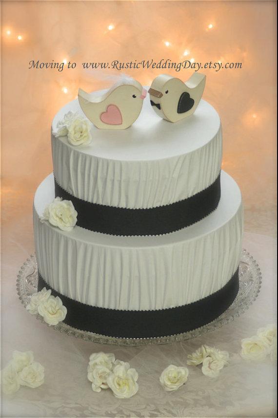 زفاف - Wedding Cake Topper Love Birds Rustic Wedding Birds Woodland Wedding Birds