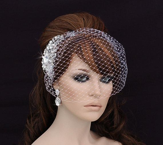 Bird Cage Veil Blusher Birdcage Veil And Comb Bridal Comb Wedding Comb Bridal Hair