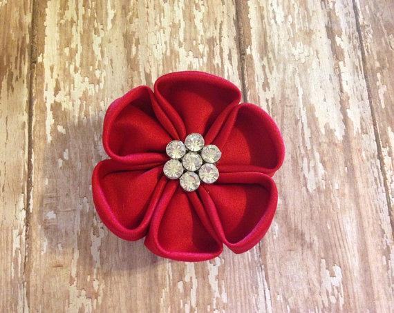 Свадьба - Slip on flower for dog collar (custom colors available)