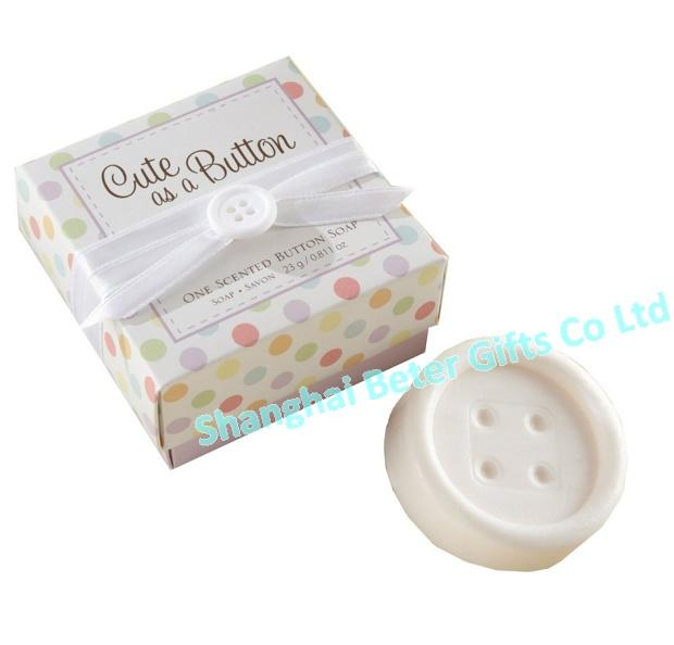Mariage - BeterGifts XZ009 Cute as a Button Baby Shower Button Soaps