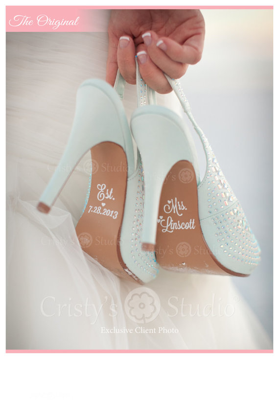 Mariage - Wedding Shoe Decals -