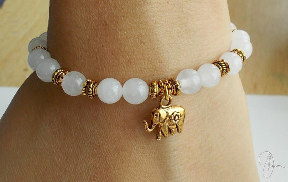 white deals gold plating groupon diamond latest elephant accent bracelet in gg