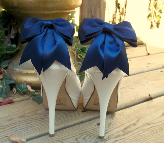 SALE Satin Bow Shoe Clips - Set Of 2 - Bridal Shoe Clips, Wedding ...