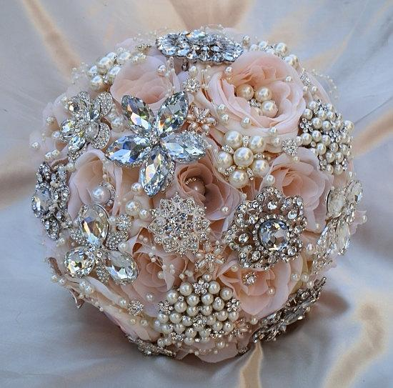 Pink Brooch Bouquet Deposit For This Bridal Wedding Custom Made To Order