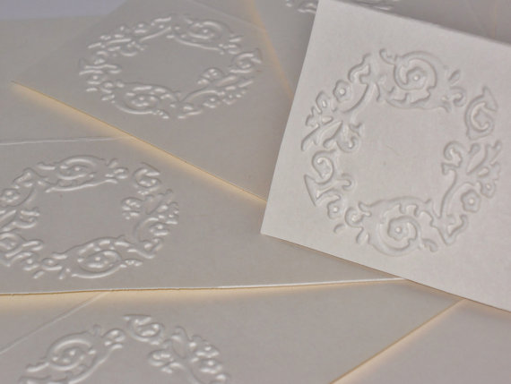 Wedding - Placecards, Wedding Seating Cards, Table Cards, Embossed, Wedding Reception