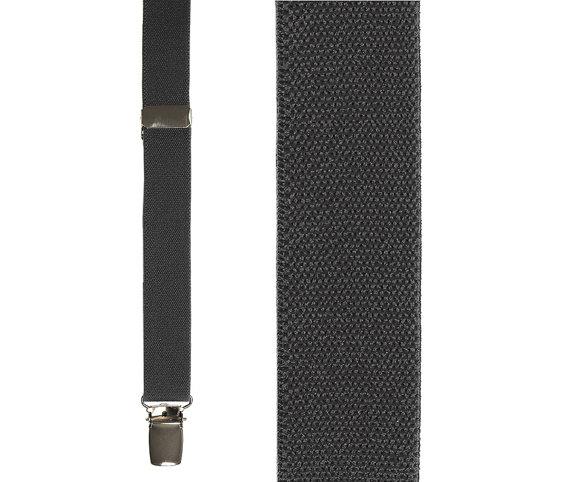 Charcoal Gray Suspenders Mens Suspenders Leather Suspenders Dark