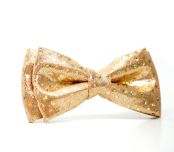 Свадьба - Gold glitter Bow Tie for Boys, Toddlers, Baby - Pre-tied bowtie - ring bearer, wedding day, photo prop, church, party, holiday