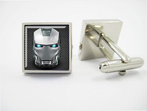Свадьба - mens cufflinks, Iron Man Cuff Links, cuff links, geeky, groomsmen cufflinks,wedding cufflinks / with cufflinks Box