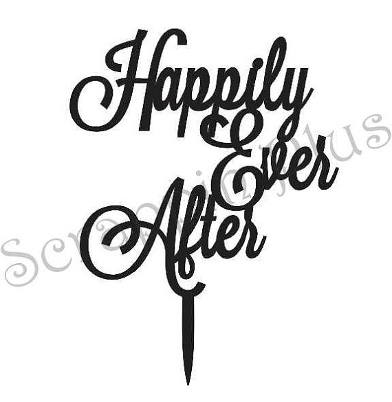 Wedding - Wooden Happily Ever After Cake Topper - wedding cake topper