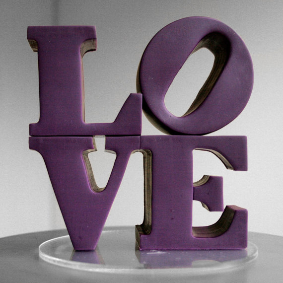 Wedding - custom color philadelphia love wedding cake topper