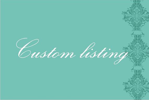 Wedding - Custom listing for Lindsay Wagner