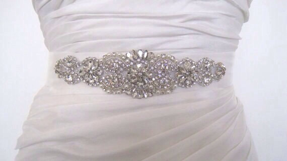 Свадьба - Wedding dress belt sash crystal bridal sash , Kim
