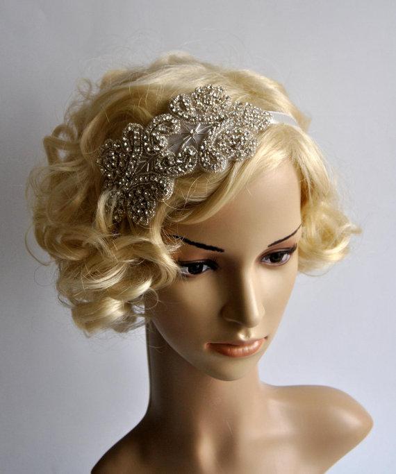 sale rhinestone flapper gatsby headband wedding headbandcrystal headband wedding headpiece halo bridal headpiece 1920s flapper headband
