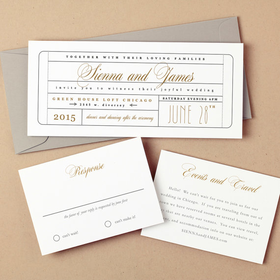 Wedding invitation wording wedding invitation templates for Ticket template for mac