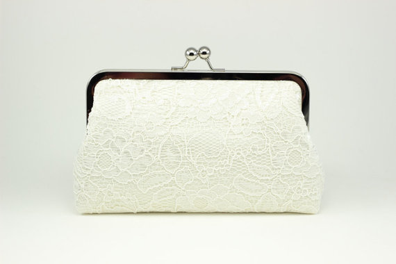 Mariage - Ivory Lace Clutch
