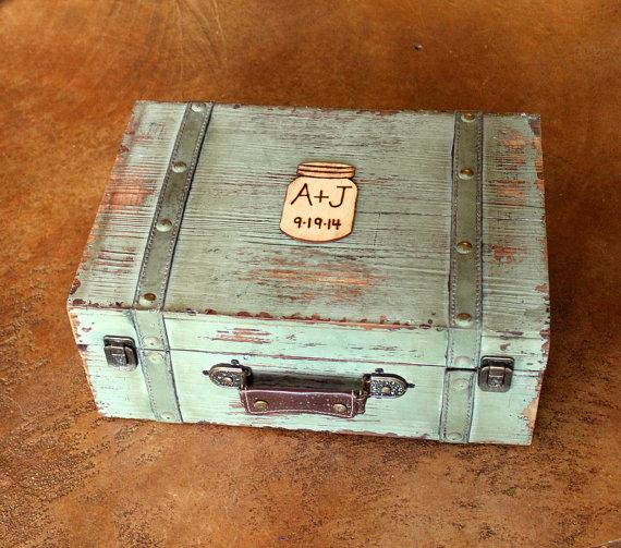 Vintage Trunk Wedding Card Box Wedding Wedding Card Box
