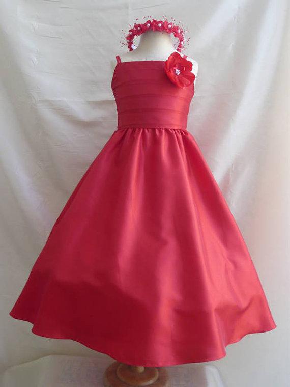 d068c9692c Flower Girl Dresses - RED (FD0SP7) - Wedding Easter Junior Bridesmaid - For Children  Toddler Kids Teen Girls