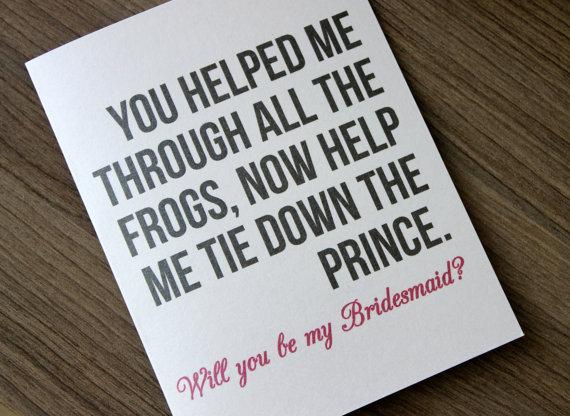 Mariage - Will you Be My Brides Maid Card, Bridesmaid Card, Will you Be my Bridesmaid Card Funny, Bridesmaid Proposal, Bridesmaid Gift