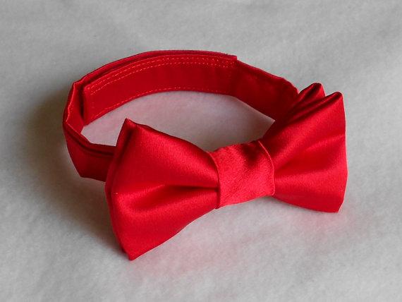 Свадьба - Red Satin Bowtie - Infant, Toddler, Boy