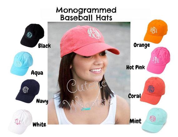 41bc2af7ee0 Women s Adult Monogrammed Cap Monogrammed Baseball Hat Bridesmaid Gift  Teacher Gift Sorority Gift