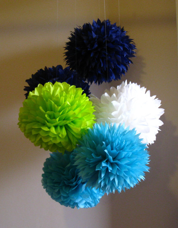 Tissue Paper Poms Frog Prince Decor Set Of 14 Birthday Party