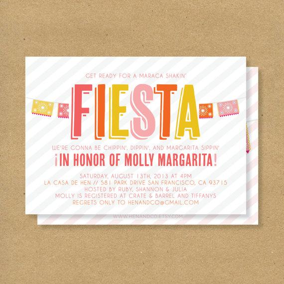 زفاف - FIESTA Invitation - Printable - Mexican Flags & Stripes - Fiesta Birthday, Fiesta Baby Shower, Fiesta Bridal Shower