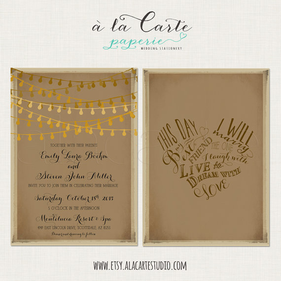 This Day I Will Marry My Best Friend Rustic Wedding Invitation