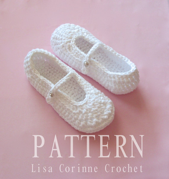 Mariage - Crochet Slipper PATTERN, Wedding Shoes, Crochet Slippers PATTERN, Bridal Slippers, Ladies Slippers,