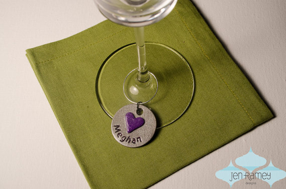 personalized wine charm valentines day wedding favor bridal shower party favor wedding shower seating chart