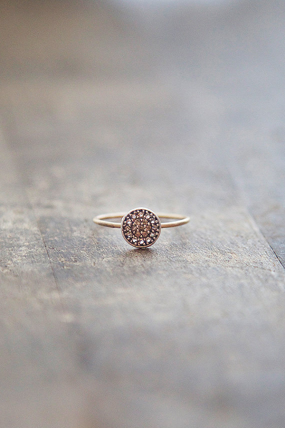 14k Gold Ring Thin Stacking Ring Gold And Silver Mixed Metal