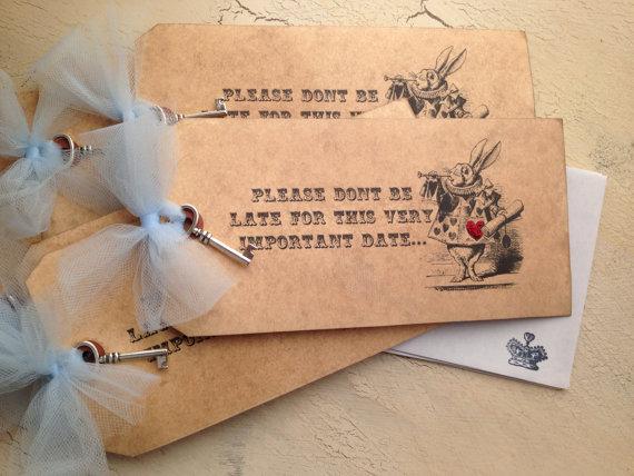 Alice In Wonderland Invitations Custom Invitations And Matching