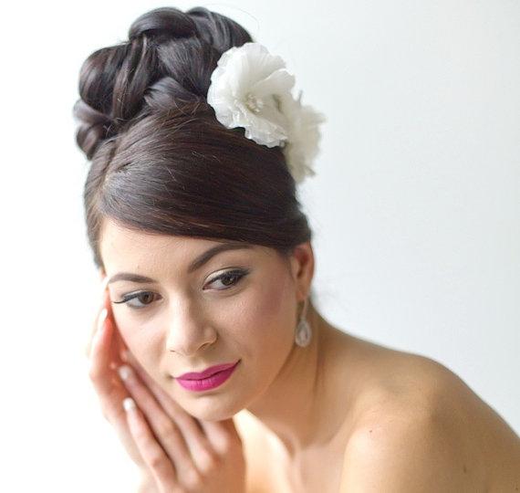 Mariage - Wedding Hair Accessory, Bridal Headpiece, Silk Flower Hair Pins, Bridal Hairpins