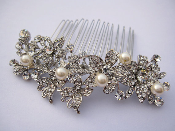 Wedding - bridal headpiece-wedding hair comb-bridal comb-wedding hair accessories-bridal comb-wedding accessories-bridal hairpiece-wedding hair clip